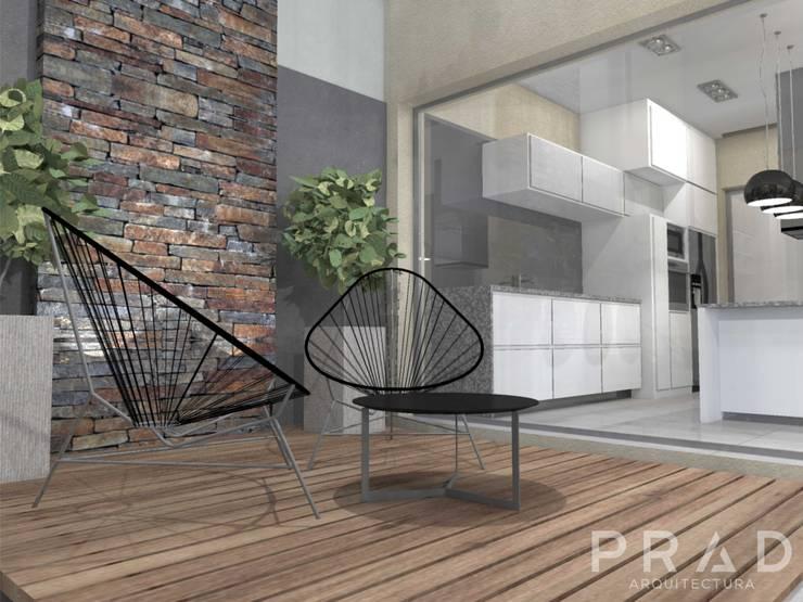 Vivienda S.O: Jardines de estilo  por PRAD Arquitectura,