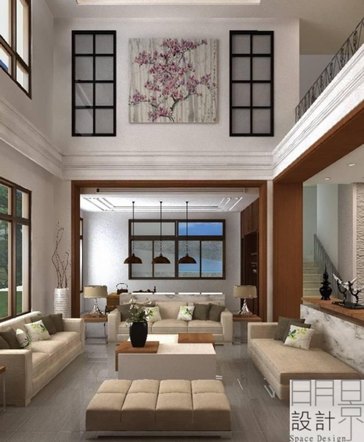 ‧大‧宅‧:  客廳 by 明景空間設計工作室