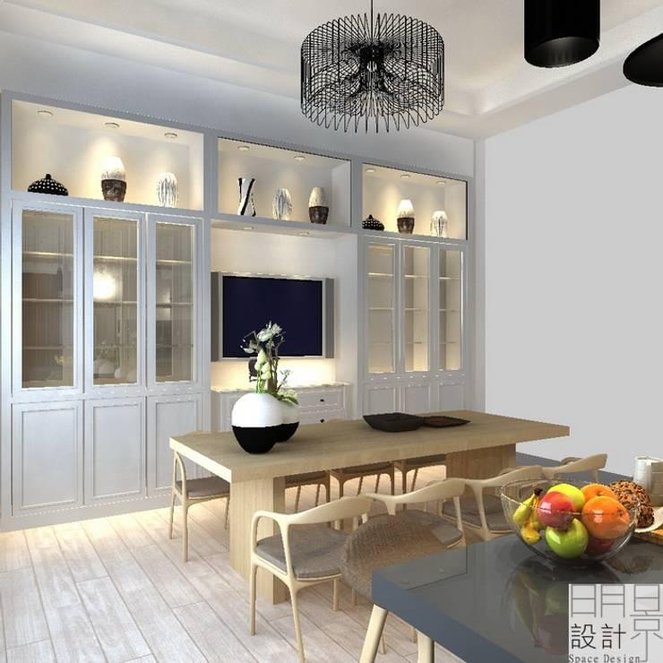 ‧大‧宅‧:  餐廳 by 明景空間設計工作室