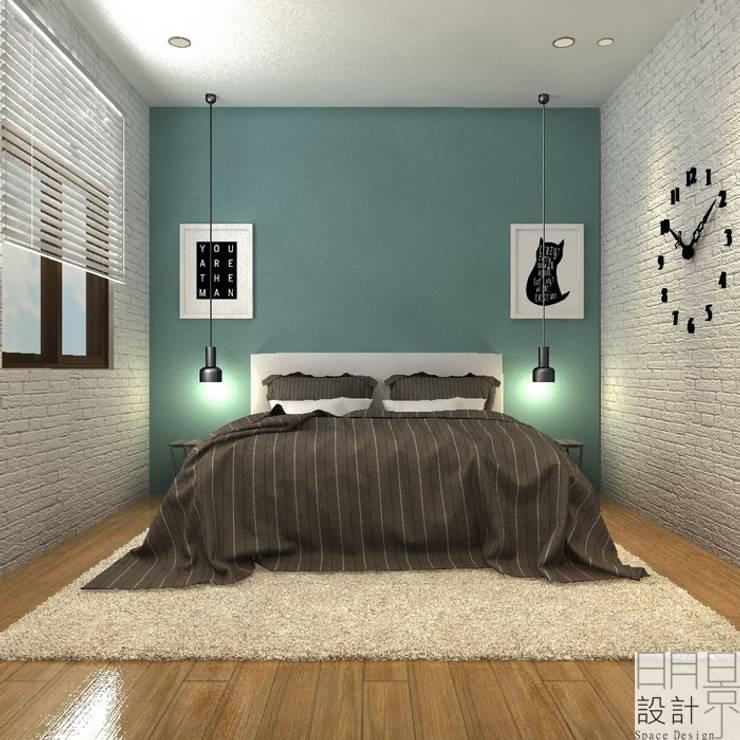 ‧大‧宅‧:  臥室 by 明景空間設計工作室