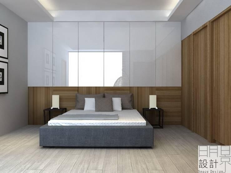 ‧大‧宅‧:  小臥室 by 明景空間設計工作室