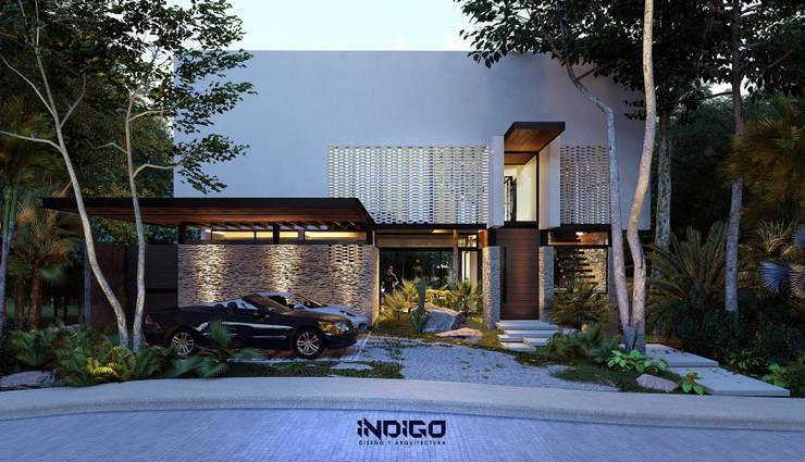 Casas unifamiliares de estilo  por Indigo Diseño y Arquitectura