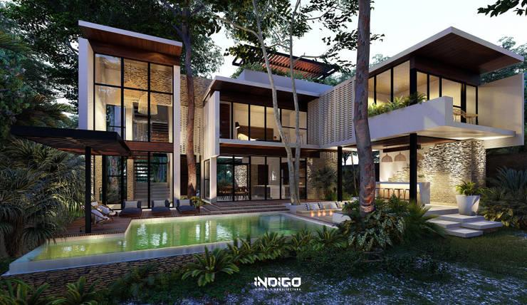 Jardines de estilo  por Indigo Diseño y Arquitectura