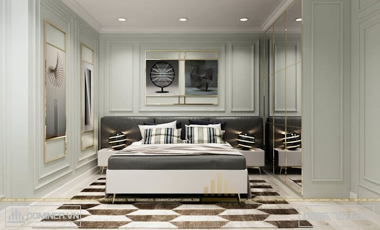 Phòng ngủ nhỏ:   by Thiết kế - Nội thất - Dominer