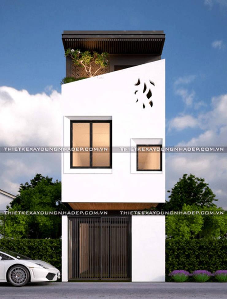 Các mẫu nhà ống đẹp 3 tầng mặt tiền rộng 5m :   by Công ty cổ phần tư vấn kiến trúc xây dựng Nam Long