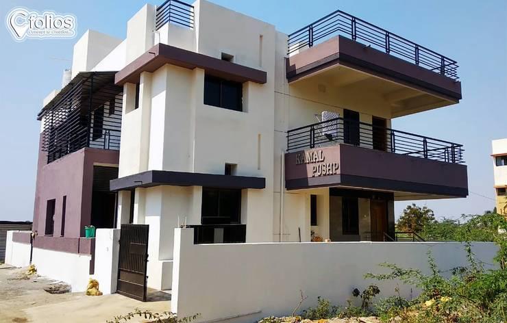 Kothari Residence, Bagalkot: modern  by Cfolios Design And Construction Solutions Pvt Ltd,Modern