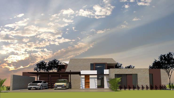 Casa unifamiliare in stile  di diseño con estilo ... sas