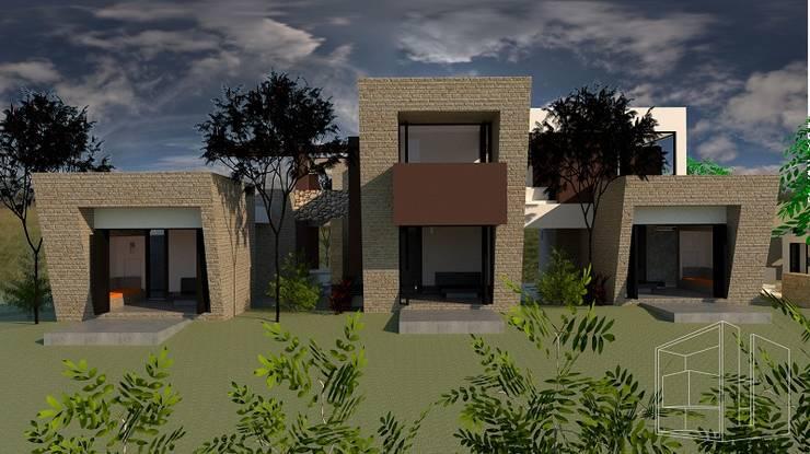 Zona Privada: Casas de estilo  por diseño con estilo ... sas, Moderno