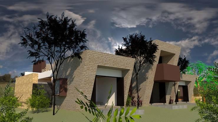 Zona Privada: Casas unifamiliares de estilo  por diseño con estilo ... sas, Moderno