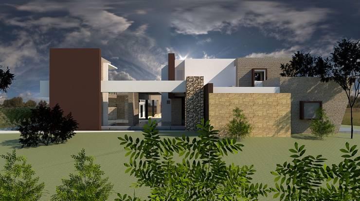 Fachada: Casas de estilo  por diseño con estilo ... sas, Moderno