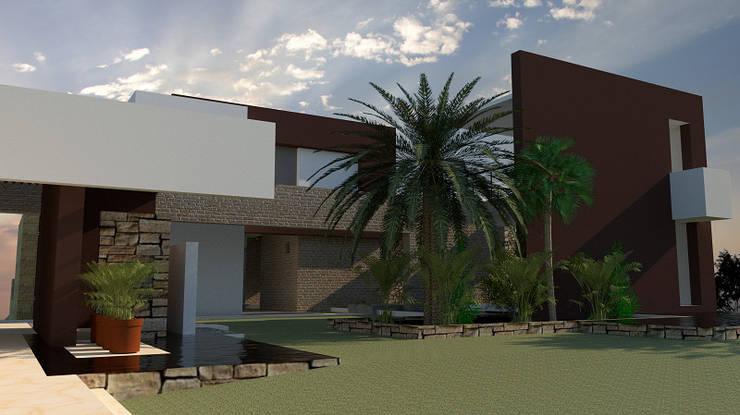 Zona Intermedia: Casas unifamiliares de estilo  por diseño con estilo ... sas, Moderno