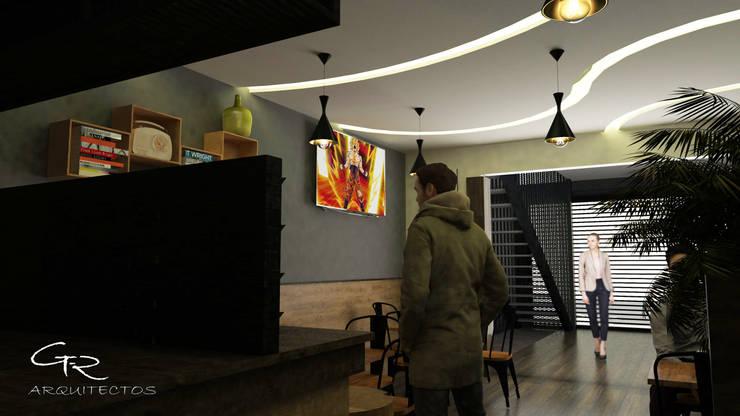 Cafetería La bendición : Techos de estilo  por GT-R Arquitectos