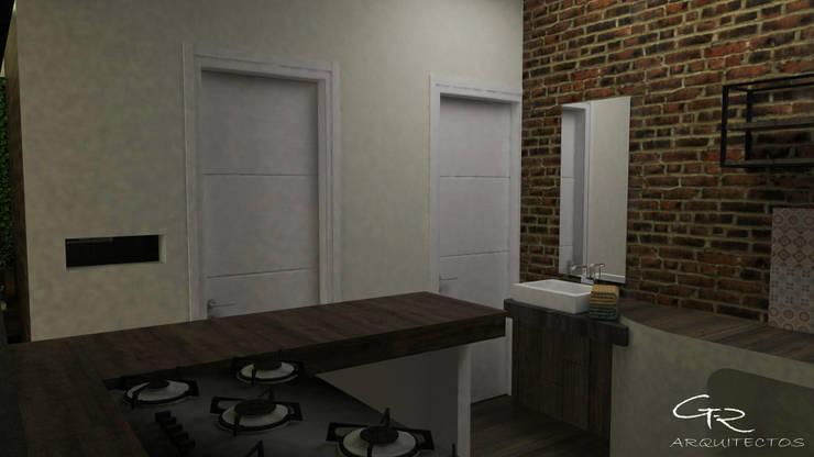 Cafetería La bendición : Cocinas pequeñas de estilo  por GT-R Arquitectos