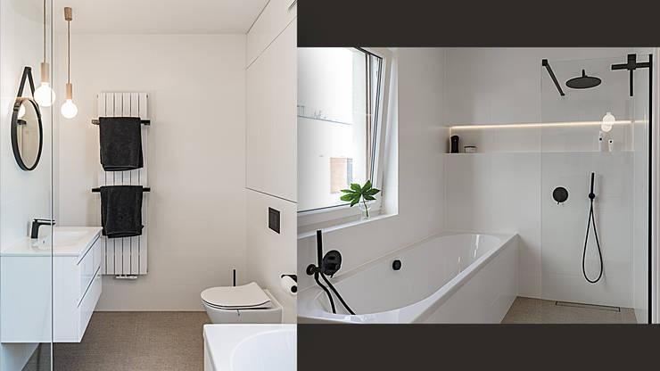 Wnętrze Domu W Bieli Grafice I Drewnie Schody Sypialnia