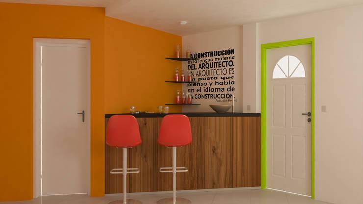Barra Triangular - Dia: Livings de estilo  por DUSINSKY S.A.,