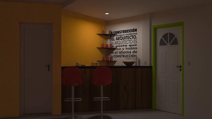 Barra Triangular - Noche: Livings de estilo  por DUSINSKY S.A.,