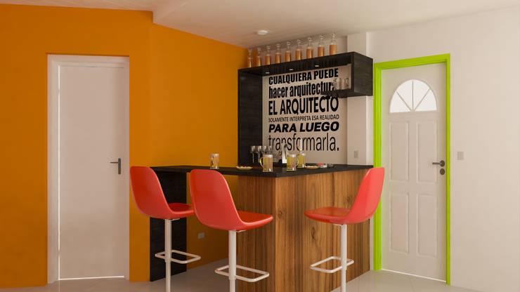 Barra Cuadrada - Día: Livings de estilo  por DUSINSKY S.A.,