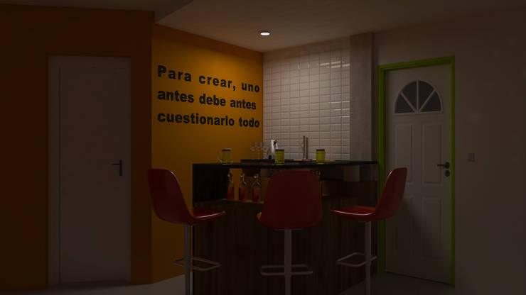 Barra Circular - Noche: Livings de estilo  por DUSINSKY S.A.,