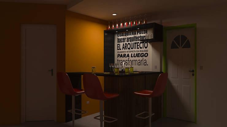 Barra Cuadrada - Noche: Livings de estilo  por DUSINSKY S.A.,