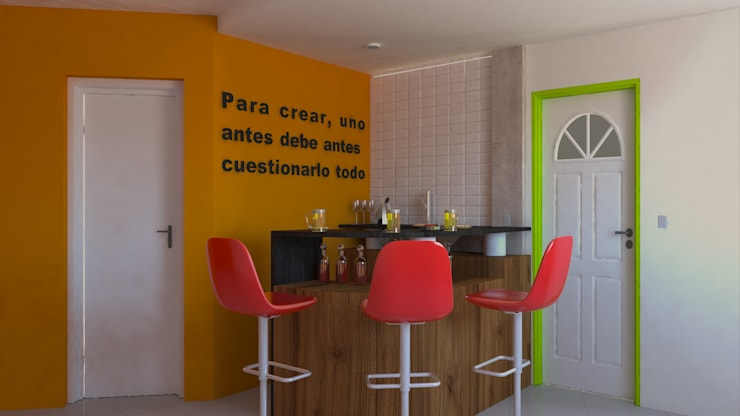 Barra Circular - Día: Livings de estilo  por DUSINSKY S.A.,
