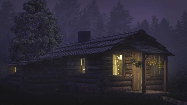 Cabaña en el bosque:  de estilo  por CrimsonViz,