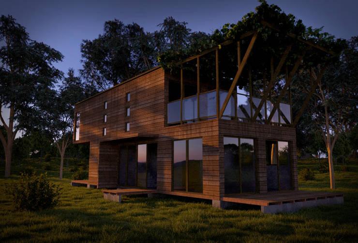 Casa Modular:  de estilo  por CrimsonViz,