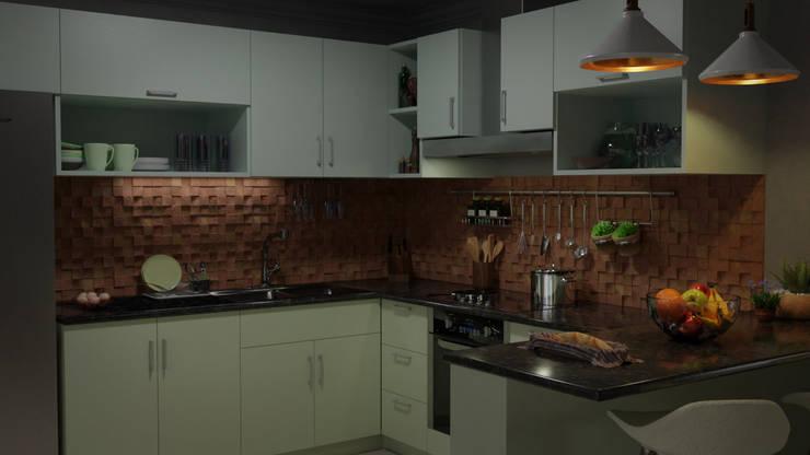 Cocina Moderna: Cocinas a medida  de estilo  por CrimsonViz,