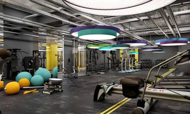 VERO CONCEPT MİMARLIK – Sava Spor Salonu & SPA-Sauna-Hamam:  tarz Etkinlik merkezleri,