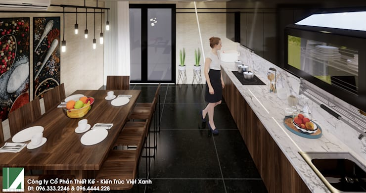 NHÀ PHỐ 4 TẦNG – QUÁN NAM – LÊ CHÂN – HẢI PHÒNG :   by công ty cổ phần Thiết kế Kiến trúc Việt Xanh