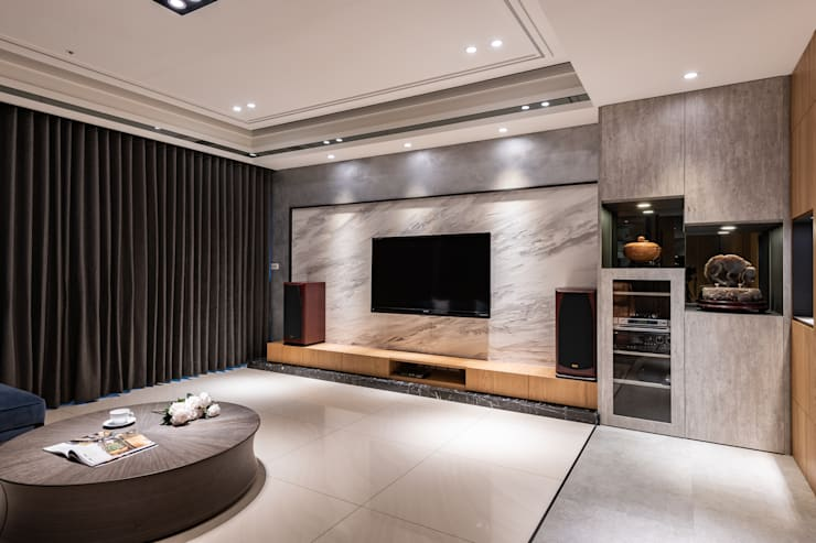 Salas / recibidores de estilo  por 珍品空間設計 | JP SPACE  DESIGN STUDIO, Moderno