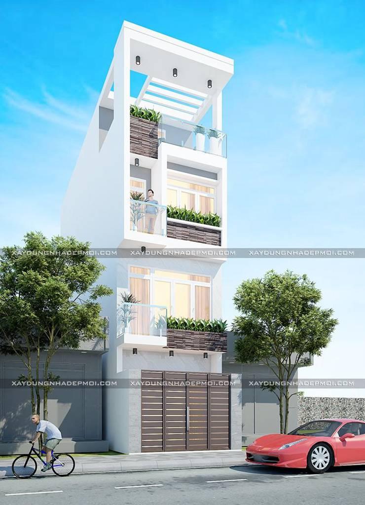 Mặt tiền mẫu thiết kế nhà 4x13:   by Công ty xây dựng nhà đẹp mới