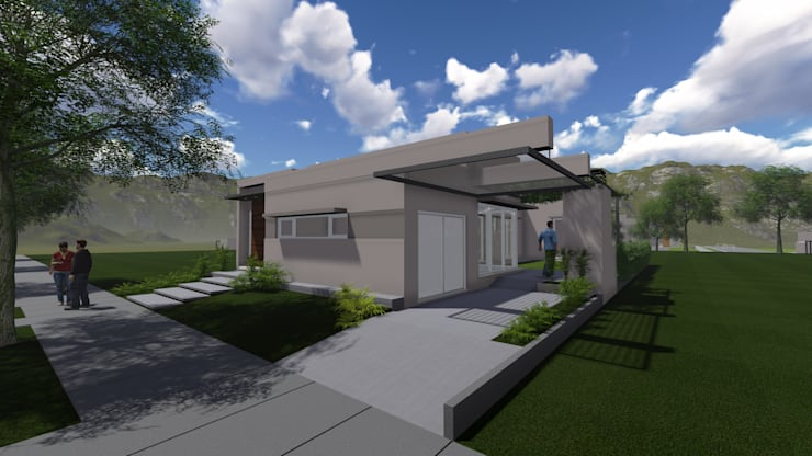 CASA DALVIAN M11: Casas unifamiliares de estilo  por MABEL ABASOLO ARQUITECTURA,