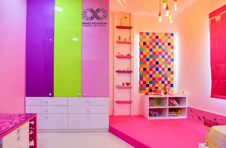 Kids Bedroom:  Bedroom by Space Polygon
