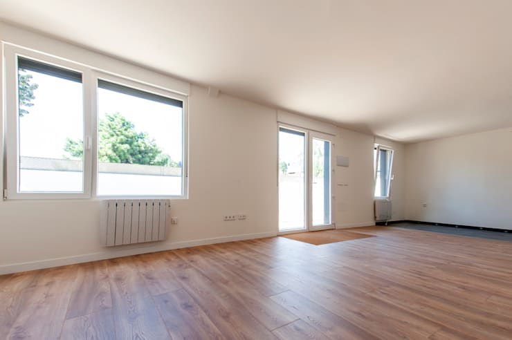 Interior de la vivienda: Salones de estilo  de MODULAR HOME,