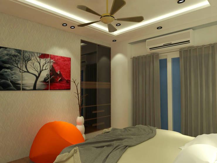 Son's Bedroom:  Bedroom by Inaraa Designs,Modern