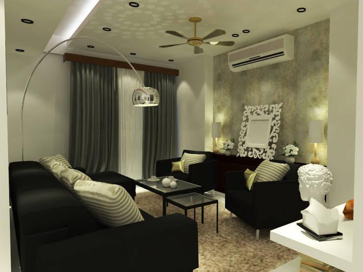 Living Room:  Living room by Inaraa Designs,Modern
