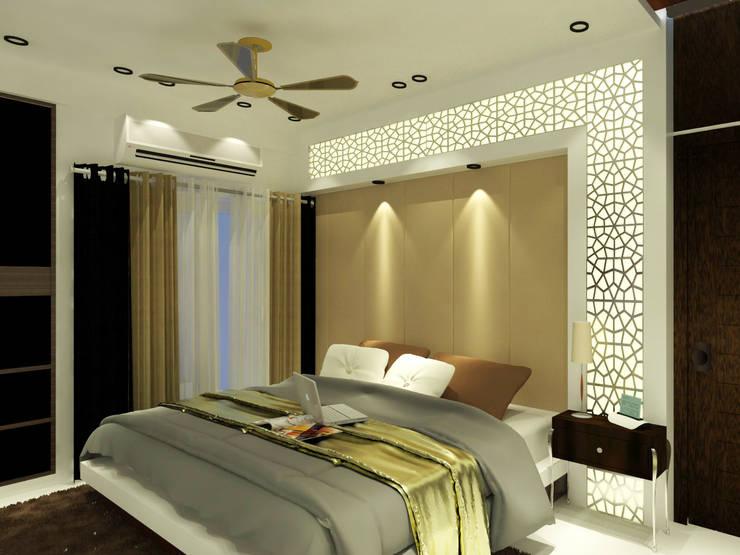 Master Bedroom:  Bedroom by Inaraa Designs,Modern