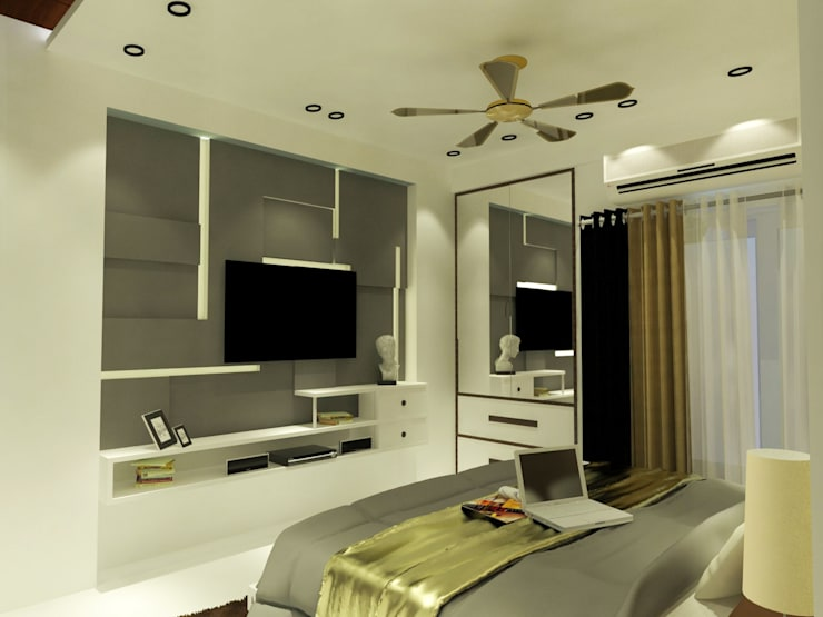 Master Bedroom T.V. Console: modern  by Inaraa Designs,Modern