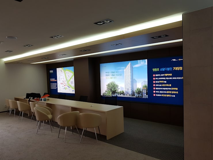 주거-영등포 오피스텔 모델하우스: DB DESIGN Co., LTD.의  서재 & 사무실,