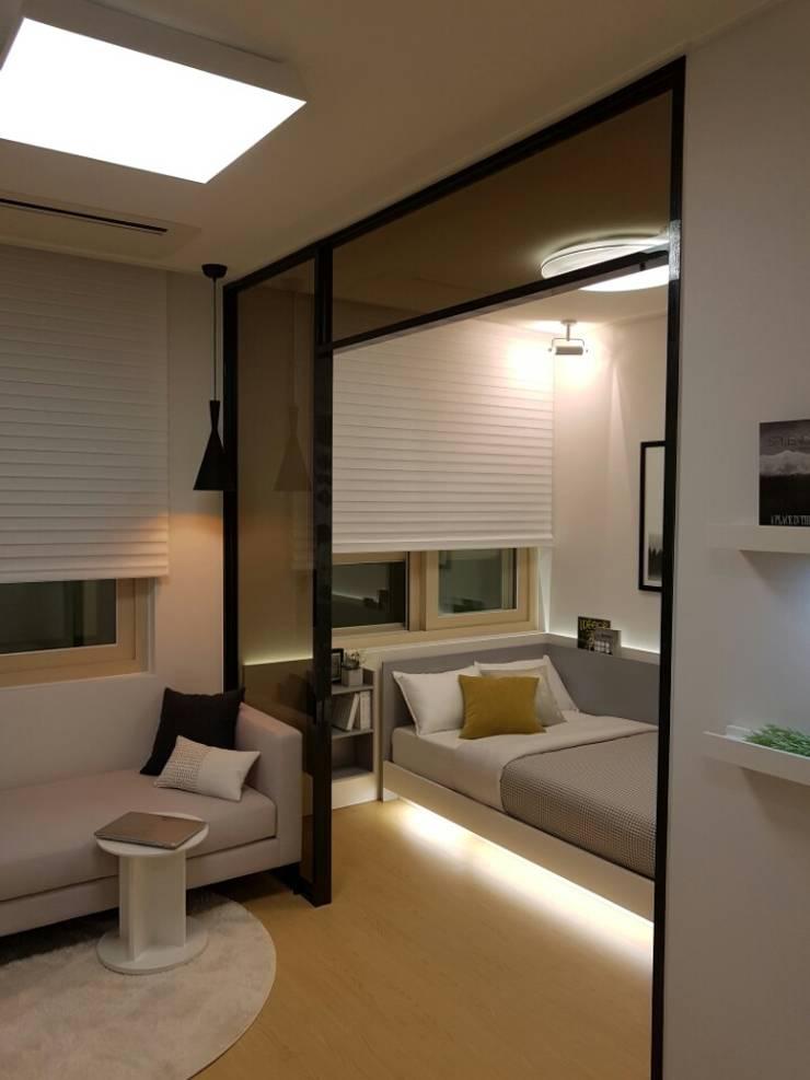 주거-영등포 오피스텔 모델하우스: DB DESIGN Co., LTD.의  작은 침실,