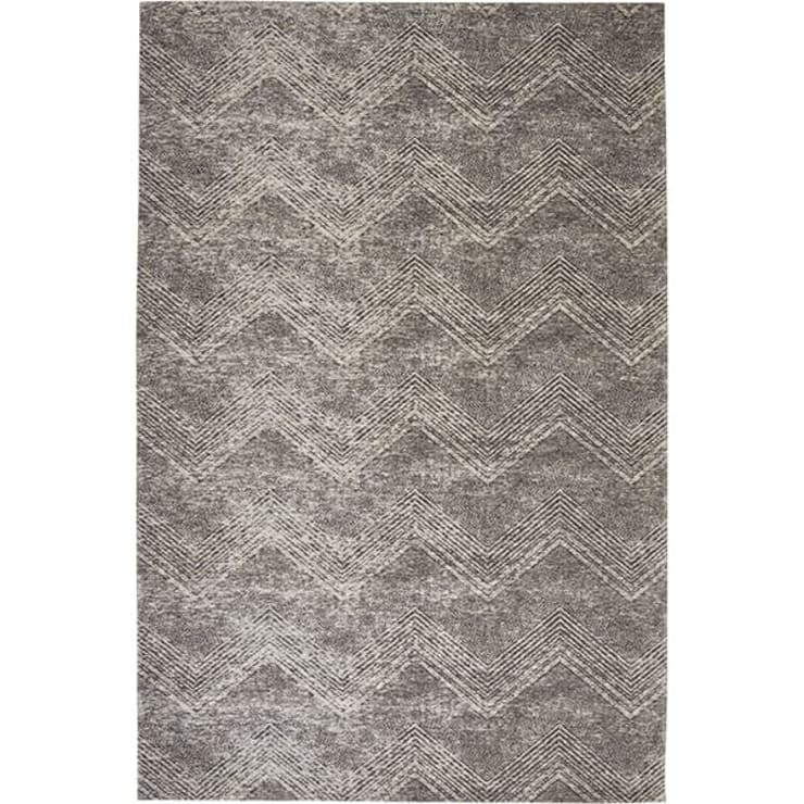 Chevron Area Rug col: Taupe:  Dining room by CKW Lifestyle