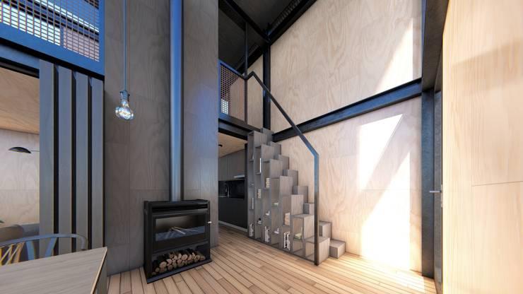 Cabañas estivales para alquiler: Cocinas de estilo  por Arquitecto Manuel Morón,
