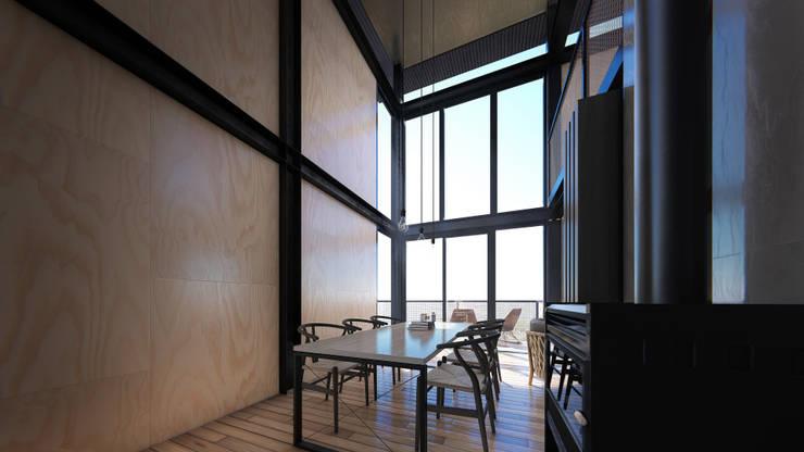 Cabañas estivales para alquiler: Comedores de estilo  por Arquitecto Manuel Morón,
