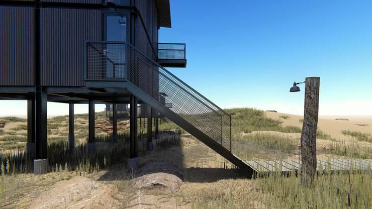 Cabañas estivales para alquiler: Casas unifamiliares de estilo  por Arquitecto Manuel Morón,