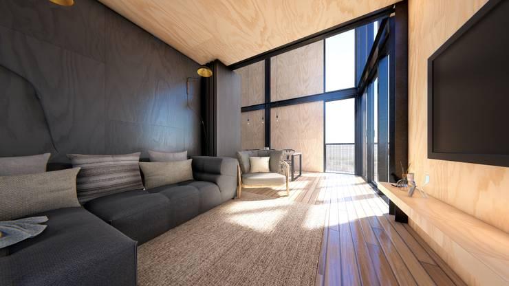 Cabañas estivales para alquiler: Livings de estilo  por Arquitecto Manuel Morón,