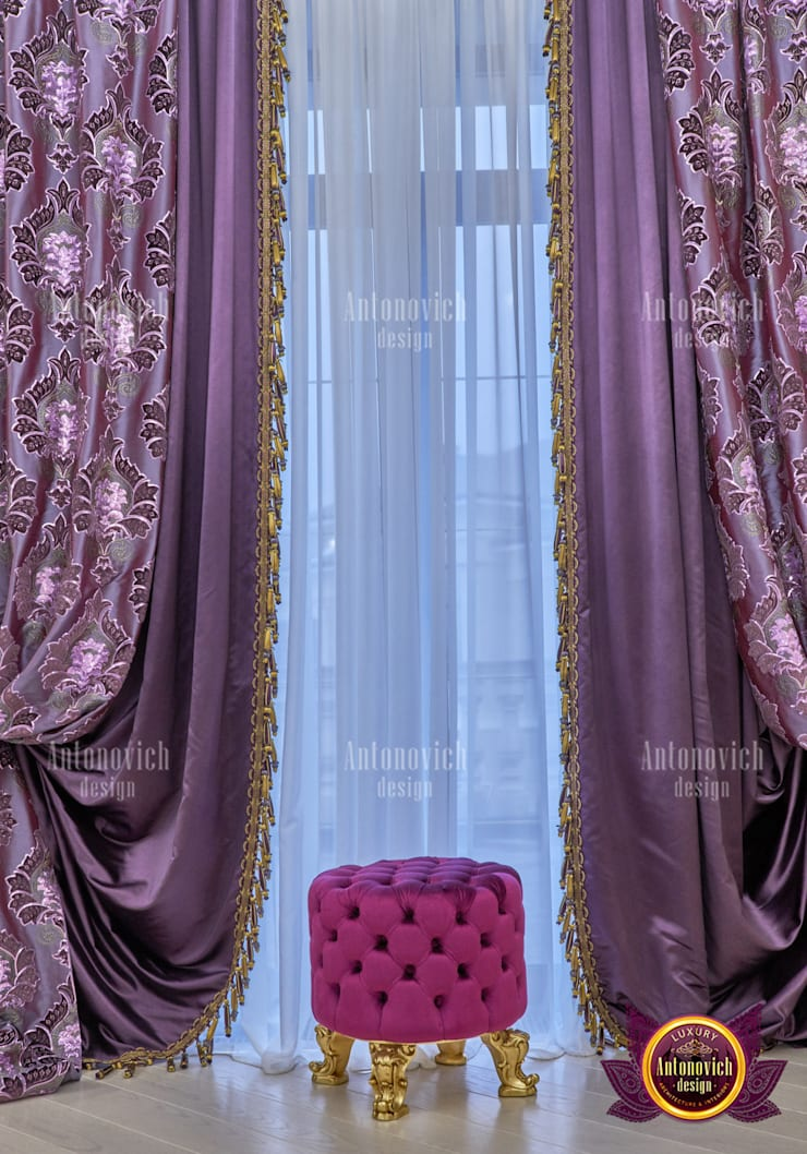 Upscale Curtains for Luxury Interior:   by Luxury Antonovich Design