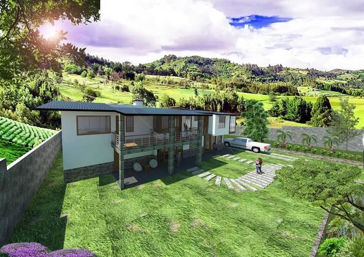 VIVIENDA CHALET TICAPATA:  de estilo  por AyC arquitectos y constructores,