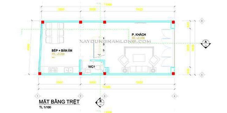 Mẫu nhà 1 trệt 3 lầu mái thái đẹp:   by Thiết kế nhà đẹp ở Hồ Chí Minh