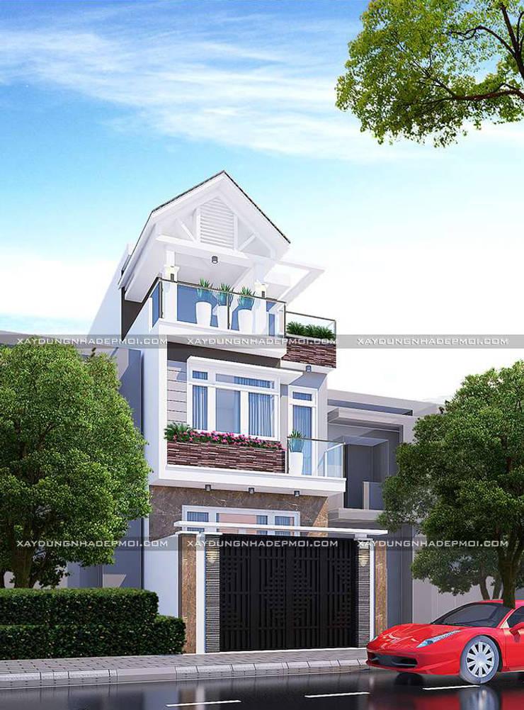Mặt tiền nhà ống 3 tầng đẹp:   by Công ty xây dựng nhà đẹp mới