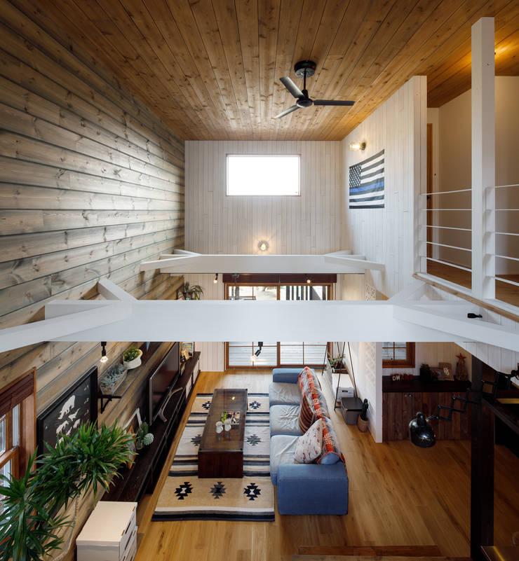 Living room by dwarf, Rustic